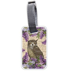 Vintage owl and lilac Luggage Tags (One Side)