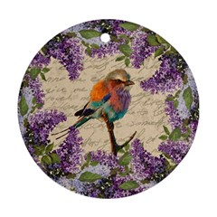 Vintage bird and lilac Ornament (Round)