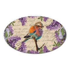 Vintage bird and lilac Oval Magnet