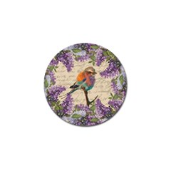 Vintage bird and lilac Golf Ball Marker (10 pack)