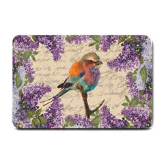 Vintage bird and lilac Small Doormat