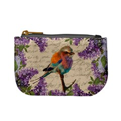 Vintage bird and lilac Mini Coin Purses