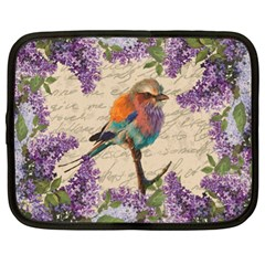 Vintage bird and lilac Netbook Case (XL)