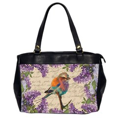 Vintage bird and lilac Office Handbags (2 Sides)
