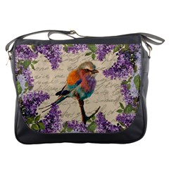 Vintage Bird And Lilac Messenger Bags