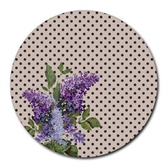 Vintage lilac Round Mousepads
