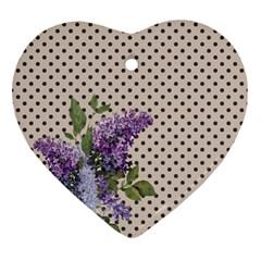 Vintage Lilac Ornament (heart)