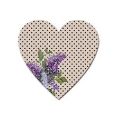 Vintage lilac Heart Magnet