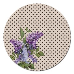 Vintage lilac Magnet 5  (Round)