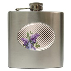 Vintage lilac Hip Flask (6 oz)