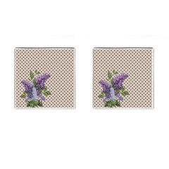 Vintage lilac Cufflinks (Square)