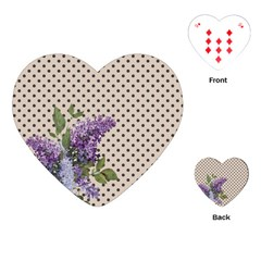 Vintage lilac Playing Cards (Heart)