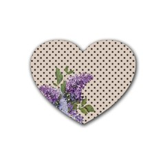 Vintage lilac Heart Coaster (4 pack)