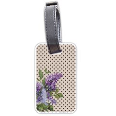 Vintage lilac Luggage Tags (One Side)