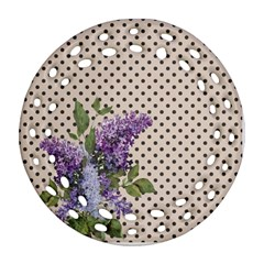 Vintage Lilac Round Filigree Ornament (two Sides)