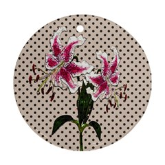 Vintage flowers Ornament (Round)
