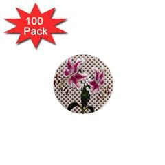 Vintage flowers 1  Mini Magnets (100 pack)