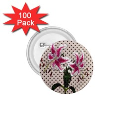 Vintage flowers 1.75  Buttons (100 pack)