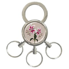Vintage flowers 3-Ring Key Chains