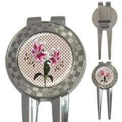 Vintage flowers 3-in-1 Golf Divots