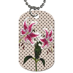 Vintage flowers Dog Tag (Two Sides)
