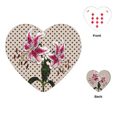 Vintage flowers Playing Cards (Heart)
