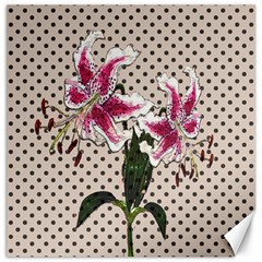 Vintage flowers Canvas 12  x 12