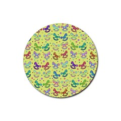 Toys pattern Rubber Coaster (Round)