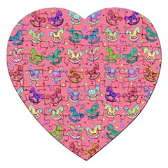 Toys pattern Jigsaw Puzzle (Heart)