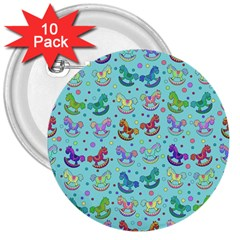 Toys pattern 3  Buttons (10 pack)