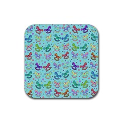 Toys pattern Rubber Square Coaster (4 pack)