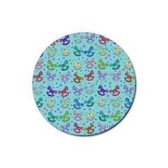 Toys pattern Rubber Round Coaster (4 pack)