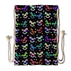 Toys pattern Drawstring Bag (Large)