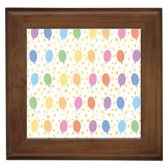 Balloon Star Rainbow Framed Tiles