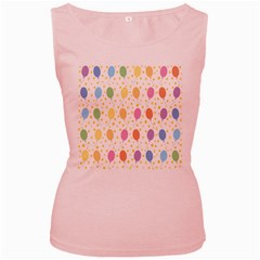 Balloon Star Rainbow Women s Pink Tank Top