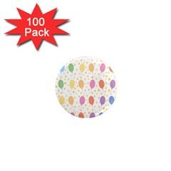 Balloon Star Rainbow 1  Mini Magnets (100 Pack)