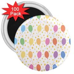 Balloon Star Rainbow 3  Magnets (100 Pack)