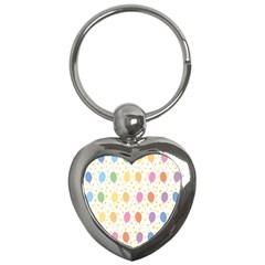 Balloon Star Rainbow Key Chains (heart)