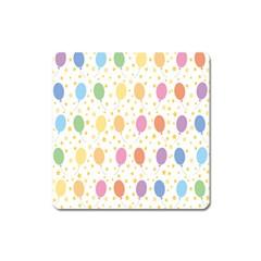 Balloon Star Rainbow Square Magnet