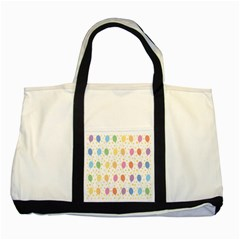 Balloon Star Rainbow Two Tone Tote Bag