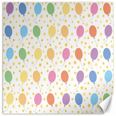 Balloon Star Rainbow Canvas 12  X 12