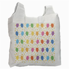 Balloon Star Rainbow Recycle Bag (one Side)
