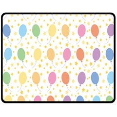 Balloon Star Rainbow Fleece Blanket (medium)