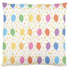 Balloon Star Rainbow Large Cushion Case (two Sides)