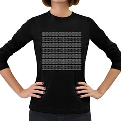 Pattern Women s Long Sleeve Dark T-Shirts