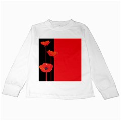 Flower Floral Red Back Sakura Kids Long Sleeve T Shirts