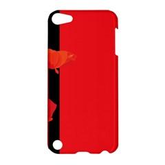 Flower Floral Red Back Sakura Apple Ipod Touch 5 Hardshell Case