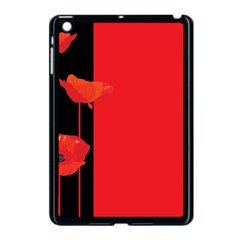 Flower Floral Red Back Sakura Apple Ipad Mini Case (black)