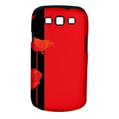 Flower Floral Red Back Sakura Samsung Galaxy S Iii Classic Hardshell Case (pc+silicone)