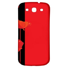 Flower Floral Red Back Sakura Samsung Galaxy S3 S Iii Classic Hardshell Back Case